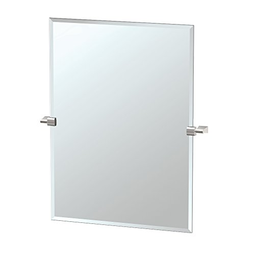 Gatco 4389S Bleu Rectangle Wall Mirror, Satin Nickel from Gatco