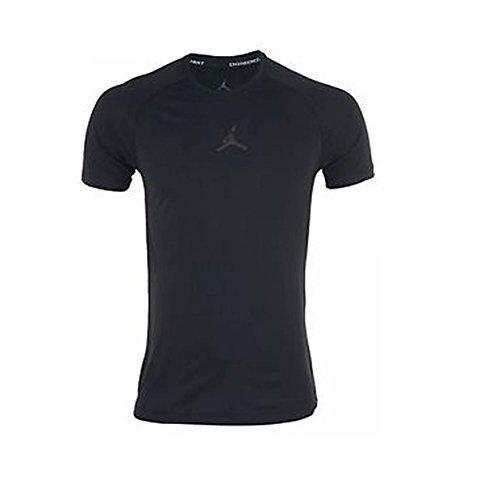 Nike Jordan Stay Cool Fitted T-Shirt Mens 642409-010 Black Dri-Fit Tee (XX-Large, Black)