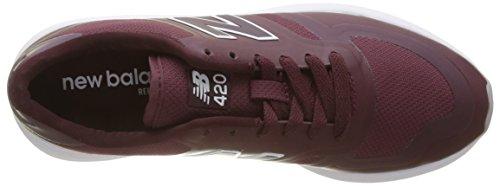 Nuovo Equilibrio Signore Wrl420 Scarpe Da Corsa, Nero Rosso (bordeaux)