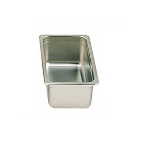 Thunder Group STPA6134, 4-Inch Third Size Steam Pan, Stainless Steel Steam Table Insert