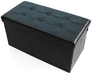 مقعد قابل للطي مستطيل الشكل مصنوع من الجلد الصناعي