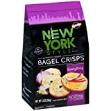 New York Style Bagel Crisps, Everything, 7.2 Ounce (Pack of 12)