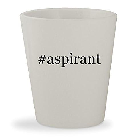 #aspirant - White Hashtag Ceramic 1.5oz Shot Glass (Nautilus Aspire Tank Glass)