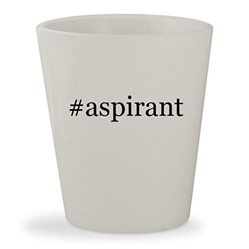 #aspirant - White Hashtag Ceramic 1.5oz Shot Glass (Tank Mini Aspire Nautilus)