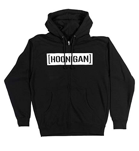 - Hoonigan Censor Bar Graphic Zip Hoodie | 80% Cotton - 20% Polyester | Long Sleeve Hooded Sweatshirt | Made for Those who Bust Knuckles, Slay Tires, and ain't Care.