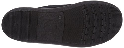 Captn Sharky 230213 - pantuflas con forro de lona niño negro - negro