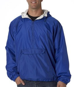 UltraClub Adult Athletic Pullover, Small, Royal