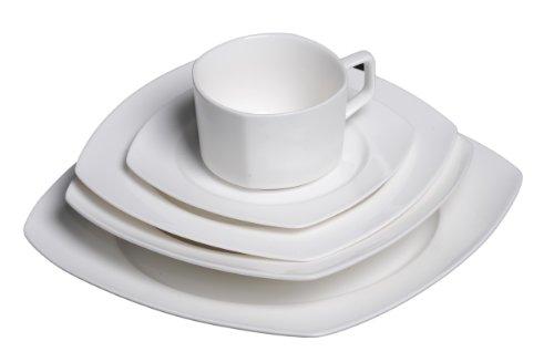 Discount China Dishes (Flato Bone China 20 Piece Square Dinnerware Set, Service for 4)