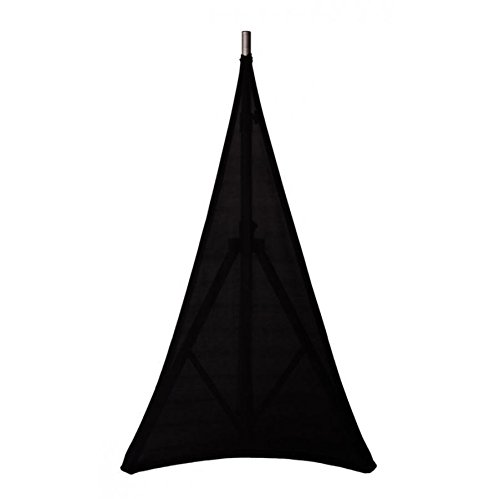 Embroze Lightstretch BLACK - 3 Sided Tripod Speaker Stand Scrim Cover (Single)