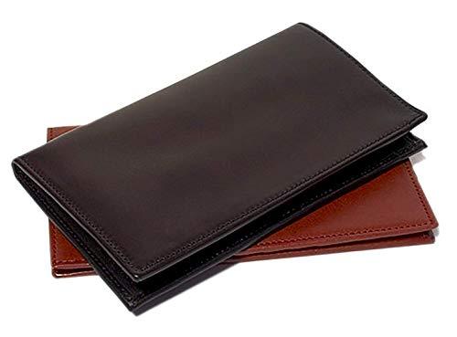 Floto Mens Custom Initials Personalization Firenze Checkbook Wallet in Black