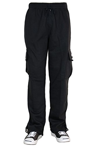 URBAN ICON MEN'S FLEECE CARGO SWEAT PANTS