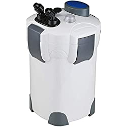 Polar Aurora Free Media 4-Stage External Canister Filter with 9-watt Uv Sterilizer, 525 GPH with Media