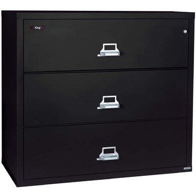 Fireproof 3-Drawer Lateral File Finish: Taupe, Lock: E-Lock