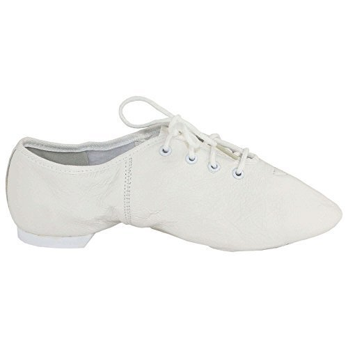 Lace Up White Shoes Danzcue Leather Womens Jazz 6q7w7FU8