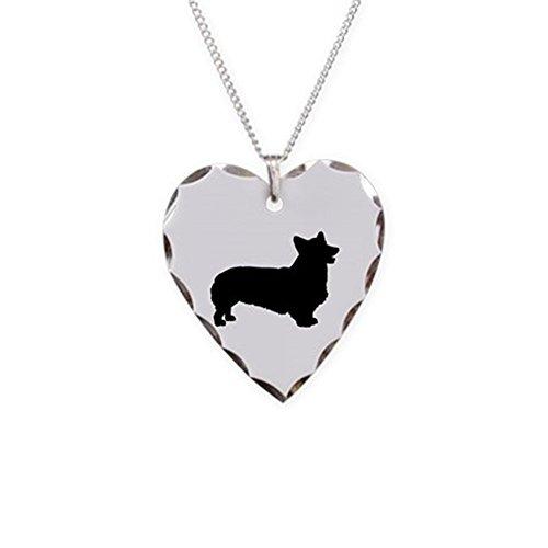 CafePress - Pembroke Welsh Corgi - Charm Necklace with Heart Pendant