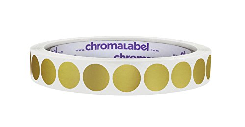 ChromaLabel 1/2 Inch Retail and Clothing Labels for Discounts, Sales, and Organizing, Metallic Gold