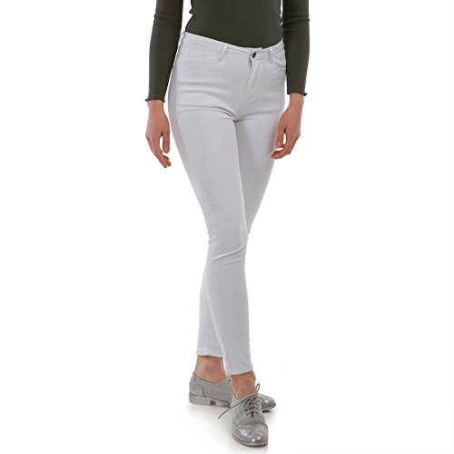 Modeuse Blanco para La Vaqueros Mujer Slim 8PqnSwd0