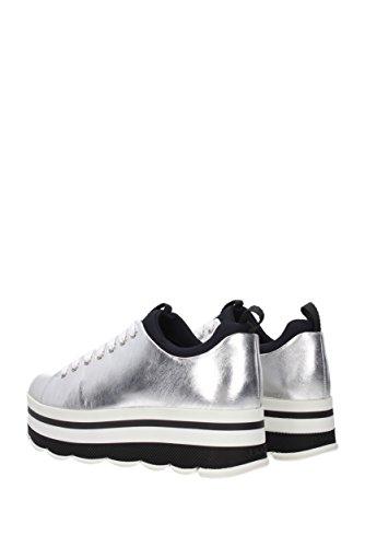 Prada Sneakers Damen - Leder (13E6264VITSOFT) EU Silber