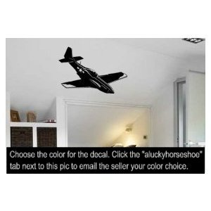 - Aircraft, decal, sticker, P-51, warbird, room, decor, military, 28 X 38 inches