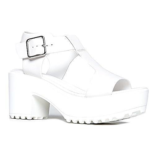 07167fd6d31 best J. Adams Corby Platform Slip On Sandal - Low Heel T-strap ...