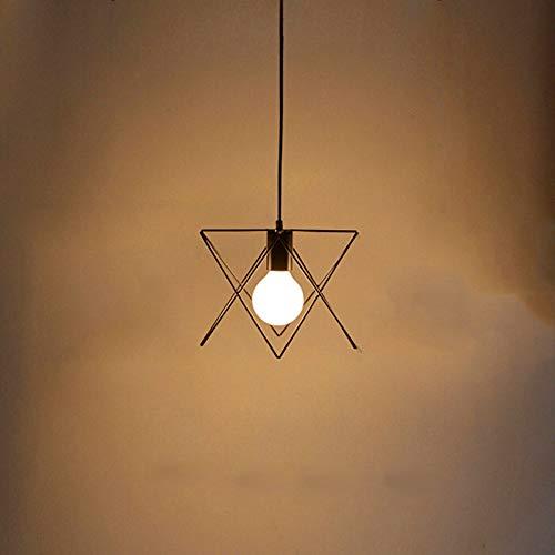 - Tlinksy Diamond Spider Chandelier American Country Wrought Iron Water Chest lof bar Restaurant Cafe Pendant Light,Single Head