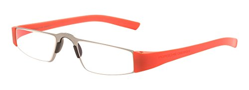 - Porsche Design p8801O Reading Tool with Rodenstock Clear Ophthalmic Clear Lenses -- Reading Glasses; Coral