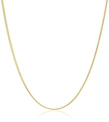 Yellow Diamond Cut Adjustable Chain Necklace