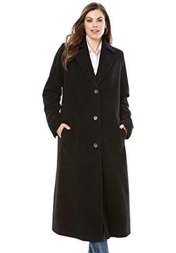 Long Black Wool Coat - 4