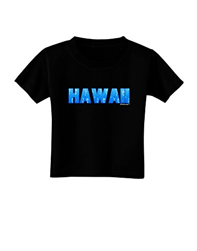 TooLoud Hawaii Ocean Bubbles Toddler T-Shirt Dark Black - - Black Hawaii Coral