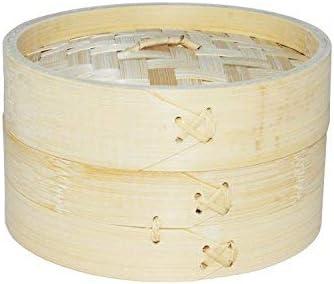 EM Home Vaporera de bambú para cocinar al Vapor, cocedor 1 Nivel ...