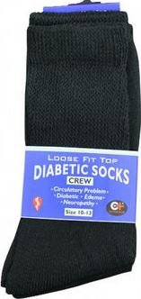 K&A Company Socks Diabetic Crew Cotton Pairs Size 10-13 Case Pack 240