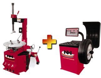 Nationwide Nw 530 Tire Changer And Nw 953 Wheel Balancer Combo