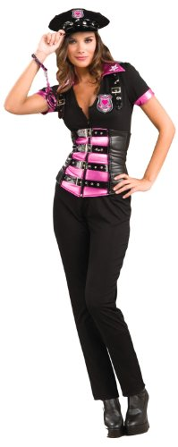 Sexy Pink Fashion Police Costume - M/L (Hot Cop Costumes)