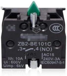 10pcs XB2 Contact Block Telemecanique ZB2-BE101C Normal Open NO ZB2-BE101C NC Pushbutton Joystick Switch Replaces Tele 10A 600V - (Color: Green NO) - - Amazon.com