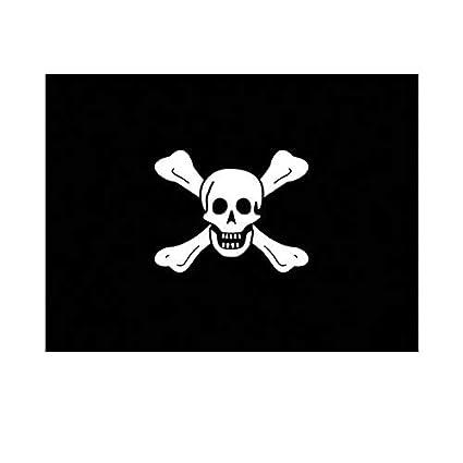 Sticker decal vinyl car bike laptop macbook bumper pirate skull white