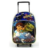 """Nick Jr. Go Diego Go 12"""" Toddler Rolling Backpack - Dinosaur"""