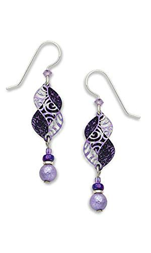 Adajio By Sienna Purple Double Helix Filigree Bead Drop Earrings Sky 7315