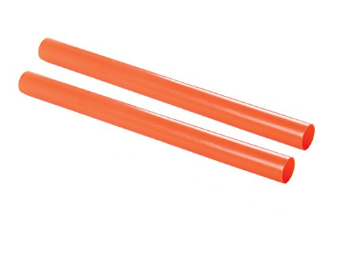 High Density Port Tube - Safety Depot Orange High Visibility High Density Plastic Traffic Wand for Airports, Police, Directing Traffic, Construction, Parking, and Marshalling Baton Dw16-r (2 Pack Round)