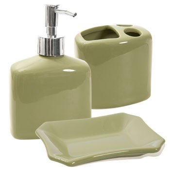 bathroom soap dispensers bath accessories. Designer Colors Ceramic Bath Accessories  Sage Green Lotion Soap Dispenser toothbrush Holder Amazon com