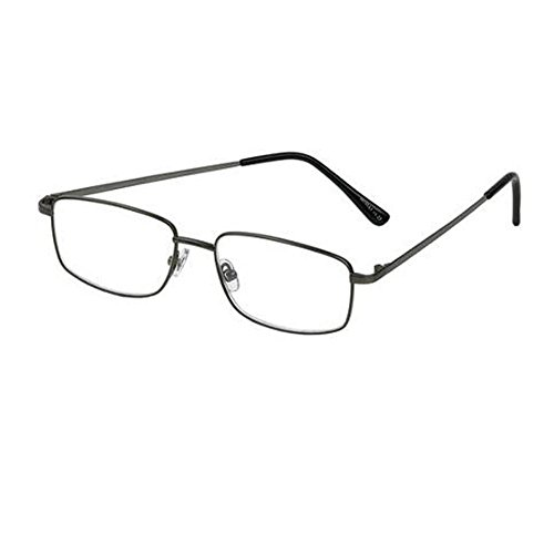 Foster Grant T10 Men's +3.00 Reading Glasses, Shiny Gunmetal Model - New Specs Model Frames