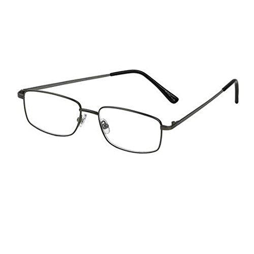 Foster Grant T10 Men's +3.00 Reading Glasses, Shiny Gunmetal Model - Specs Model Frames New