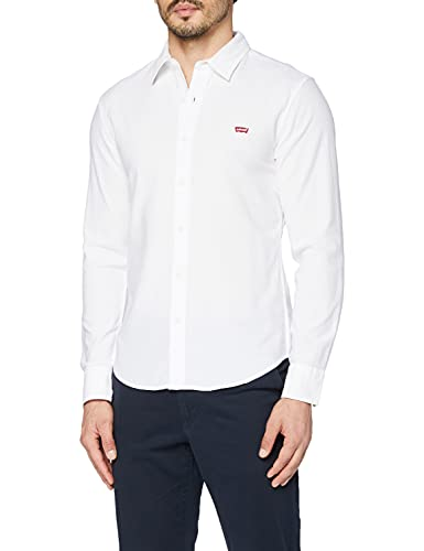 Levi's LS Battery Hm Shirt Slim Camisa, White (White 0002), Large para Hombre