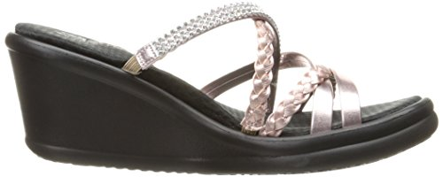 Skechers Cali Women's Rumblers-Social Butterfly Wedge Sandal,Rose Gold,7.5 M US by Skechers (Image #7)