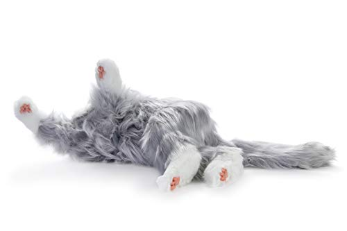 Joy for All Robotic Reclining Silver Grey Cat - for Ages 2 to 102 by Memorable Pets (Image #6)