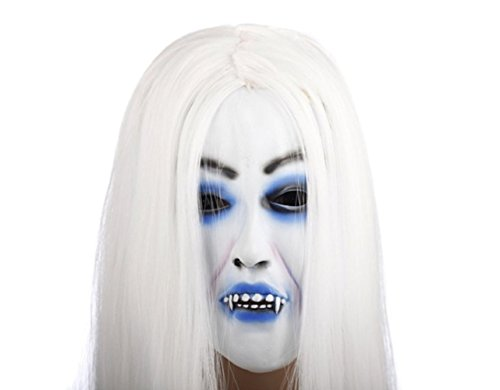[Horrible Creepy Toothy Ghost Mask,Halloween Costume Prop Latex] (Grease Lighting Costumes)