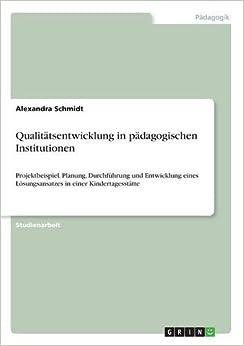 Book Qualitätsentwicklung in pädagogischen Institutionen