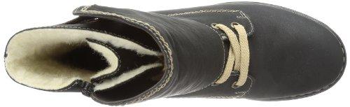 Rieker 75441 - Botines de material sintético mujer negro - Schwarz (schwarz/peanut 00)
