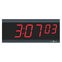 Pyramid Wall Mount Rectangle Digital RF Wireless Digital Timer, Black - 9D26BRCT