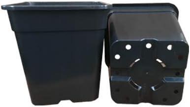 Carr/é de pot 3/11/L L 4/pans carr/é Pot Culture Pot 11 Liter noir
