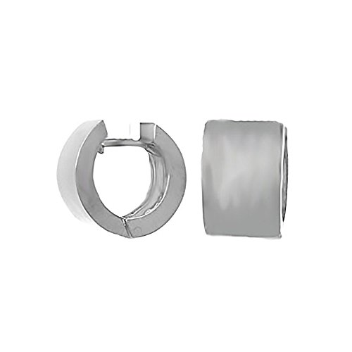 925 Sterling Silver Trend Round Cuff Earrings, High Polish 9mm by Million Charms